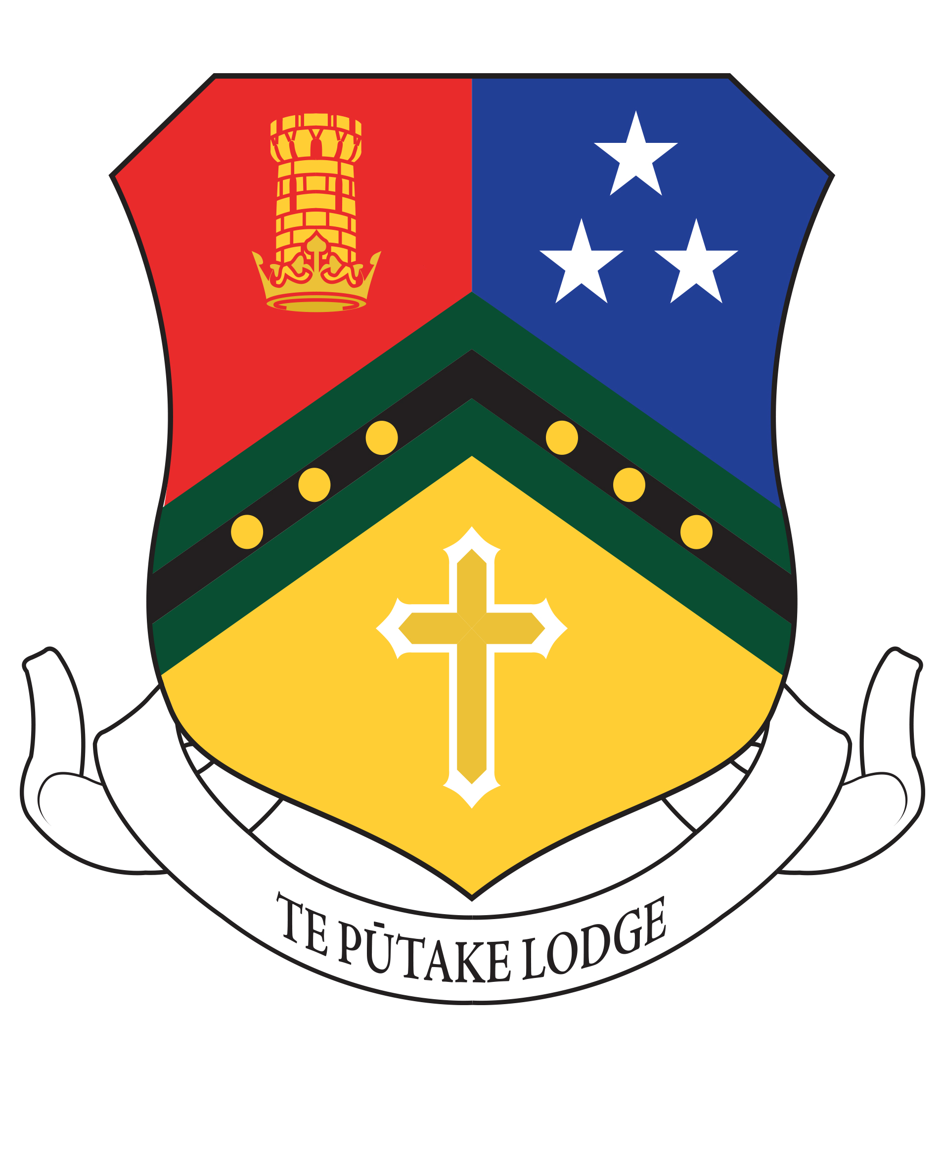 02030112 Our Houses Te Putake Lodge Shield