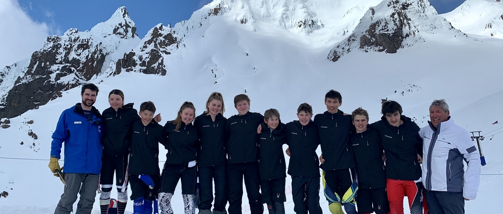 King's College skiers at the North Island Secondary School Ski Championships which were held at Turoa, Ohakune